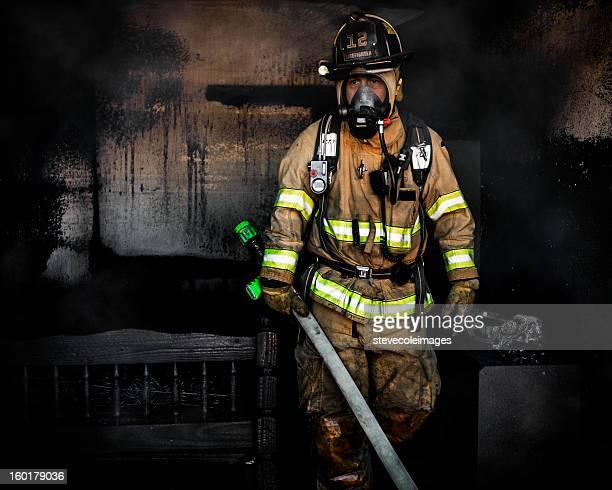 ポートレートの消防士
