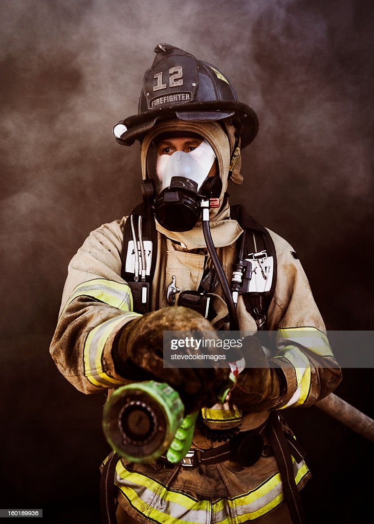 Portrait of Firefighter : Stock Photo