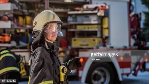 Portrait of firefighter'n