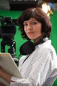 Portrait Of Floor Manager In Television Studio
