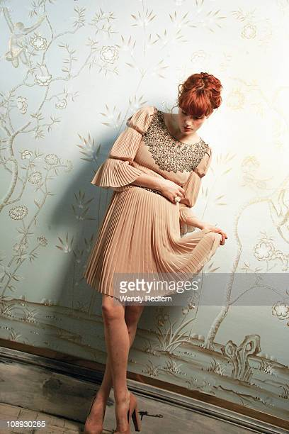 A portrait of Florence Welch from Florence and the Machine on October 13 2010 in Los Angeles California United States
