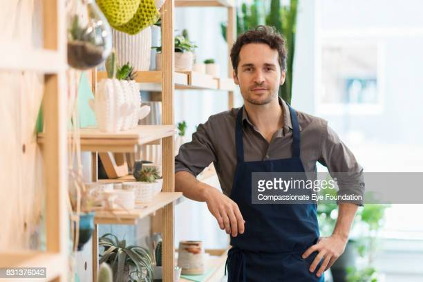 Portrait of florist in flower shop