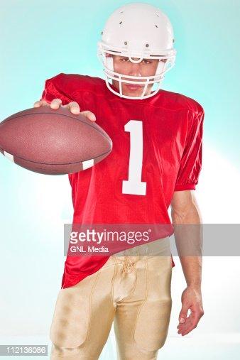 Portrait of Football Player : ストックフォト