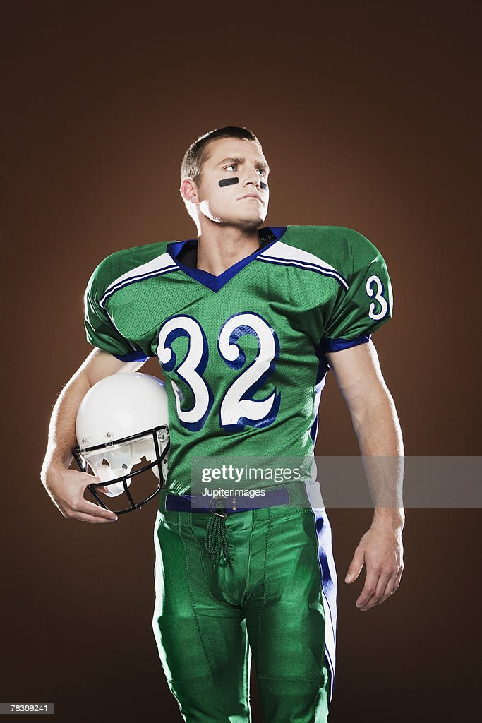 Portrait of football player : Stock Photo