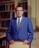 Portrait of former United States President Richard Nixon taken in the White House Washington DC 1972