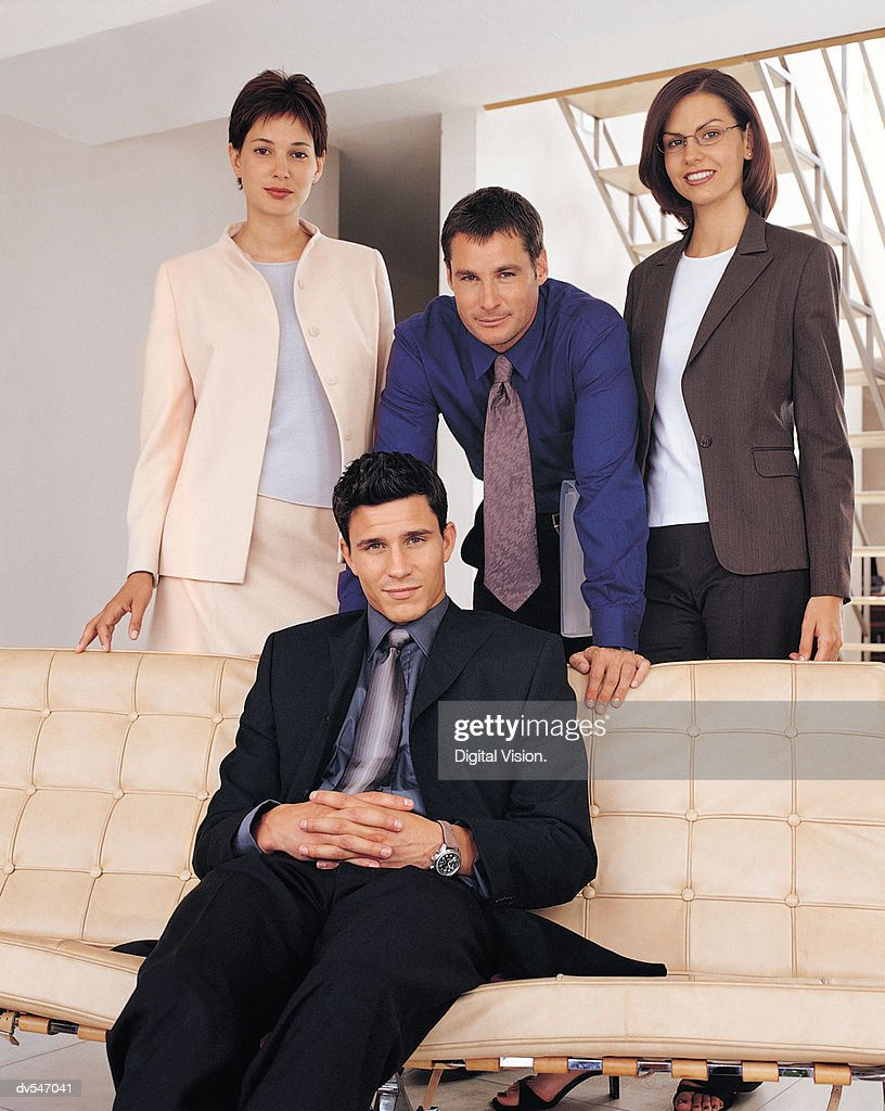 Portrait of Four Business People : Stock Photo