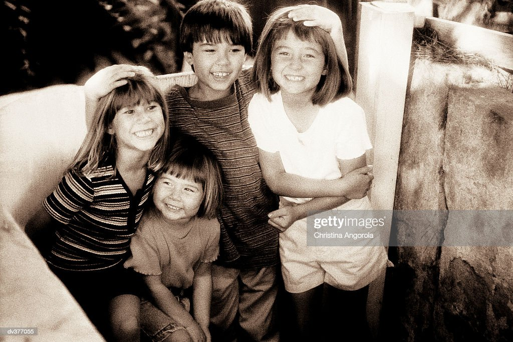Portrait of four friends : Stock Photo