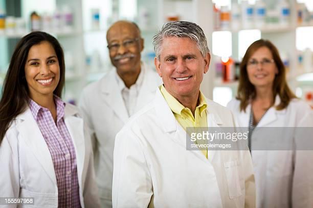 Portrait of Four Pharmacist