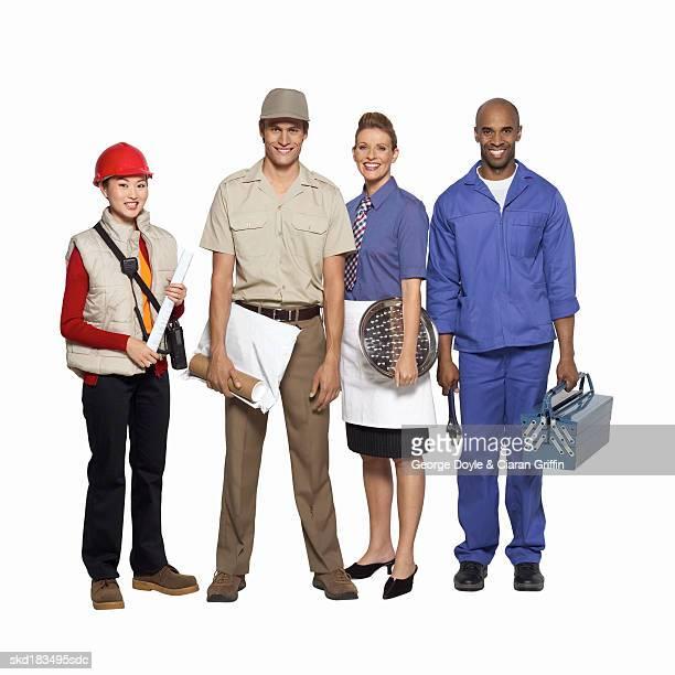 Portrait of four professionals