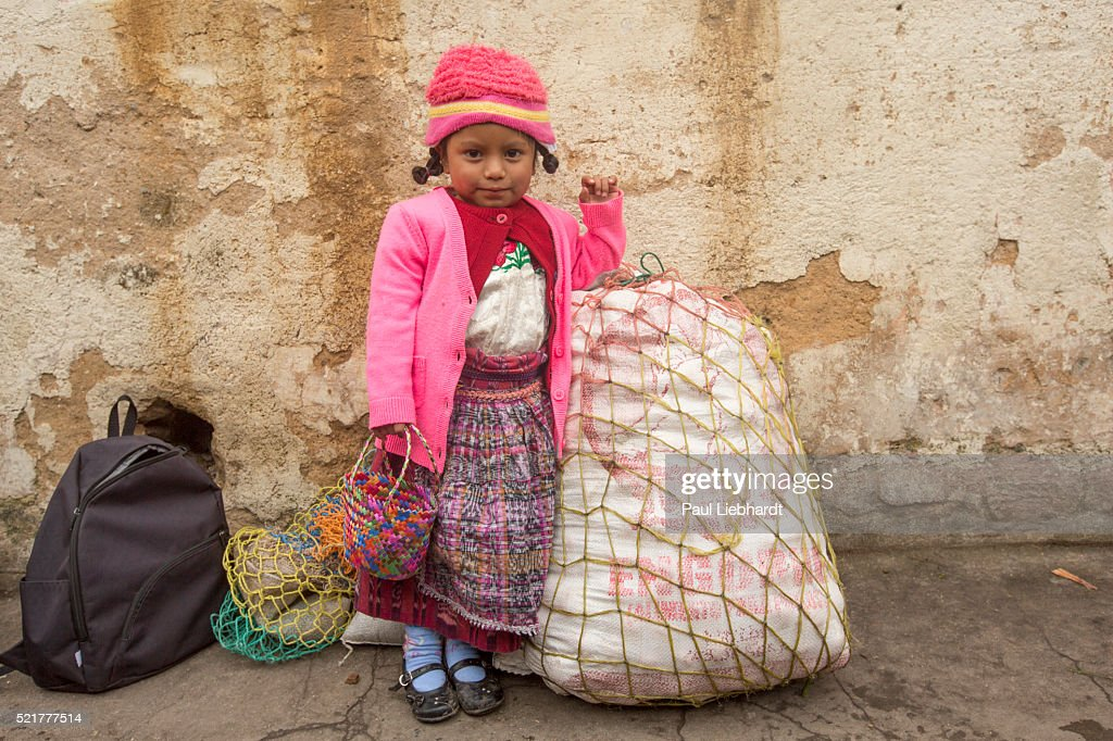 Portrait of Four Year old Guatemalan Girl