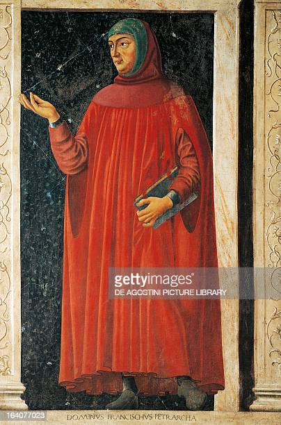 Portrait of Francesco Petrarca Italian writer and poet Detail from Famous Men and Women cycle by Andrea del Castagno fresco transferred onto canvas...