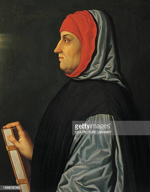 Portrait of Francesco Petrarca Italian writer and poet Painting by the Italian school 16th century Innsbruck Schloss Ambras Kunsthistorisches Museum...