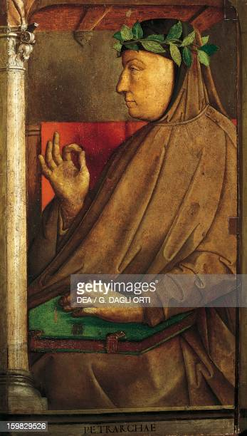 Portrait of Francesco Petrarca Italian writer and poet Painting by Joos van Wassenhove Urbino Palazzo Ducale