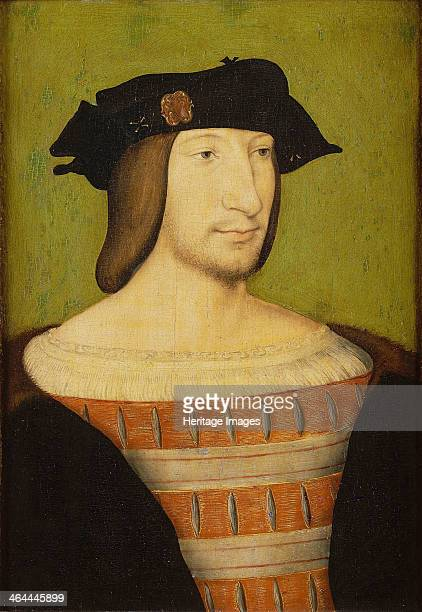 Portrait of Francis I King of France Duke of Brittany Count of Provence 1515 Found in the collection of the Musée Condé Chantilly