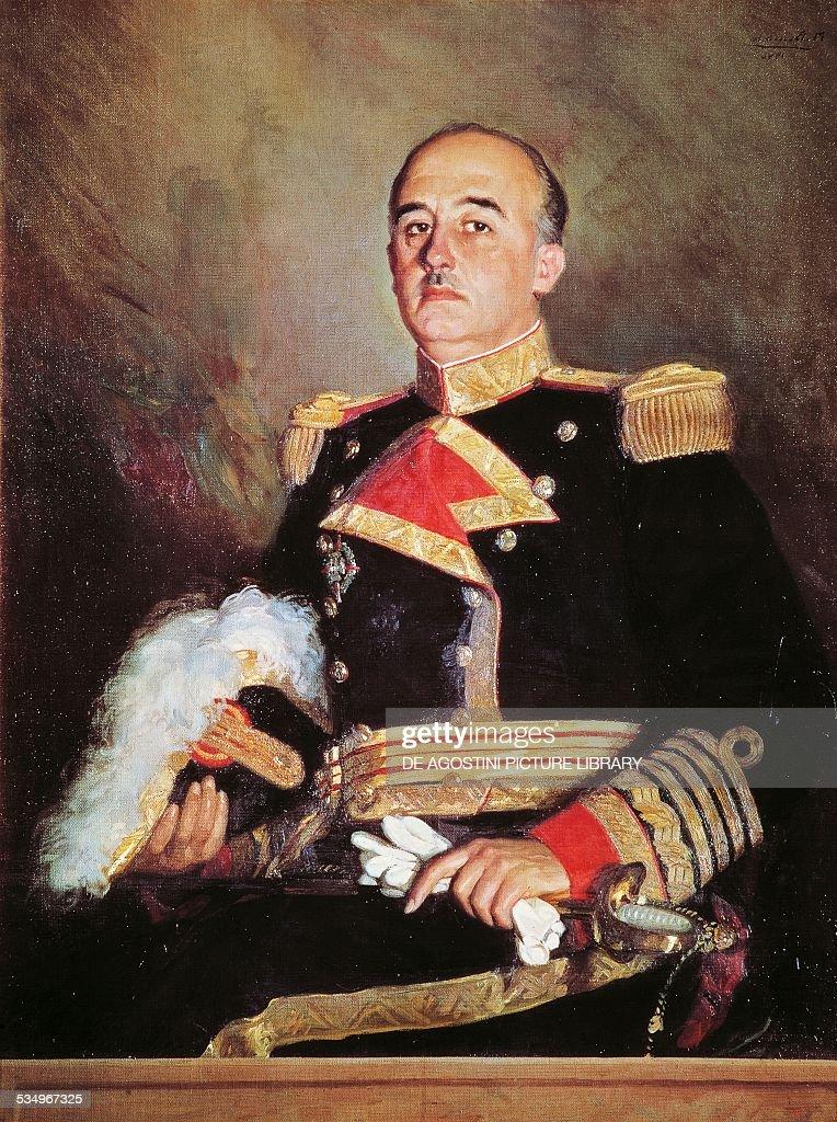 Portrait of Francisco Franco Bahamonde Spanish general and dictator painting