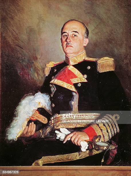 Portrait of Francisco Franco Bahamonde Spanish general and dictator painting