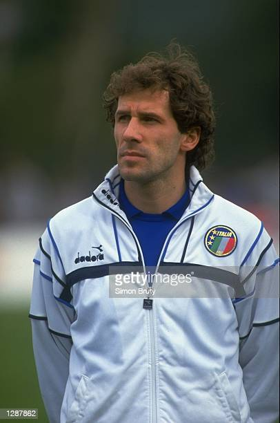 Portrait of Franco Baresi of Italy before the European Championship qualifying match against Portugal Italy won the match 10 Mandatory Credit Simon...