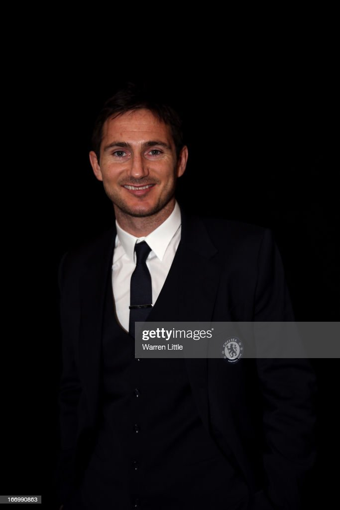 A portrait of <a gi-track='captionPersonalityLinkClicked' href=/galleries/search?phrase=Frank+Lampard+-+Born+1978&family=editorial&specificpeople=11497645 ng-click='$event.stopPropagation()'>Frank Lampard</a> of Chelsea during the UEFA Champions League and UEFA Women's Champions League Cup handover ceremony at Banqueting House, Whitehall on April 19, 2013 in London, England. Wembley Stadium in London will host on May 25 the final football match of the UEFA Champions League.