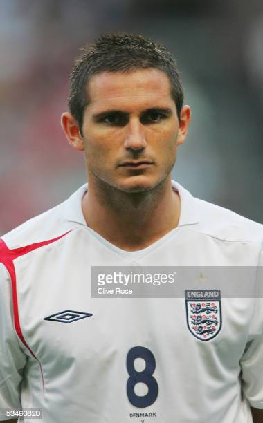 A portrait of Frank Lampard of England prior to the International friendly match between Denmark and England at The Parken Stadium on August 17 2005...