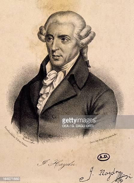 Portrait of Franz Joseph Haydn Austrian composer Engraving by Farcy Paris Bibliothèque Des Arts Decoratifs
