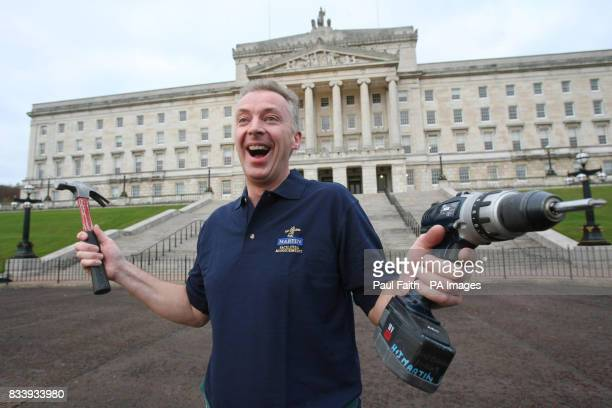 Portrait of Fred Prentice who by day works as a workman at Parliament Buildings in Stormont and by night earns standing ovations as a member of the...
