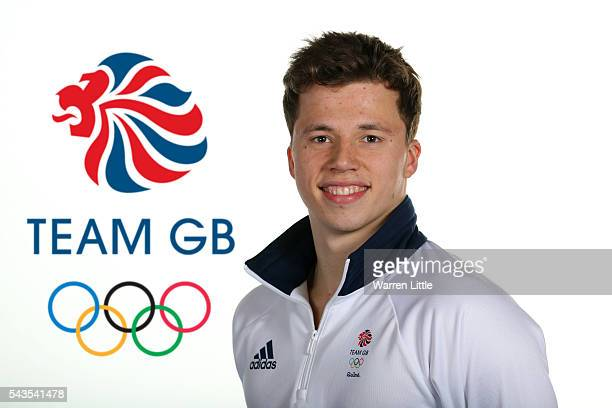 A portrait of Freddie Woodward a member of the Great Britain Olympic team during the Team GB Kitting Out ahead of Rio 2016 Olympic Games on June 28...