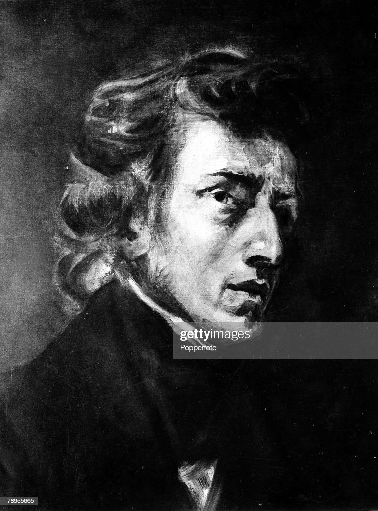 A portrait of <a gi-track='captionPersonalityLinkClicked' href=/galleries/search?phrase=Frederic+Chopin&family=editorial&specificpeople=78813 ng-click='$event.stopPropagation()'>Frederic Chopin</a>, Polish composer and pianist, (1810-1849),from a painting by Delacroix in the Louvre
