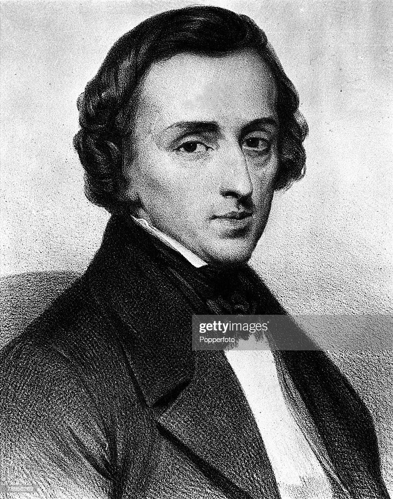 A portrait of Frederick Chopin (1810-49), the Polish composer and pianist