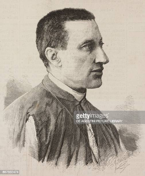 Portrait of Frederick Francis Xavier de Merode Belgian monsignor drawing by Filosofini from a photograph illustration from Nuova illustrazione...