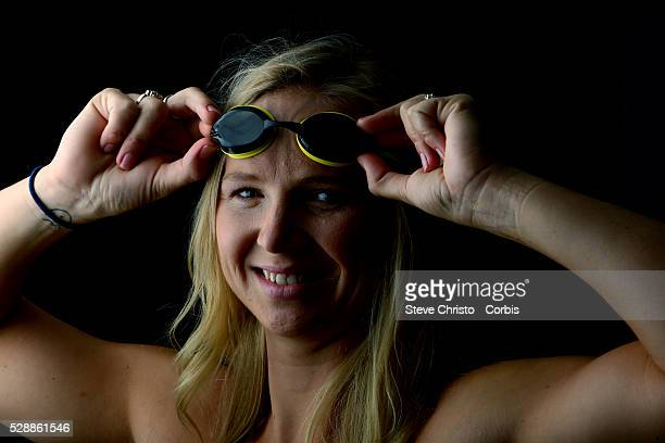 Portrait of Freestyles swimmer Melanie Schlanger at the Brisbane Aquatic Centre Brisbane Australia Sunday 6th April 2014