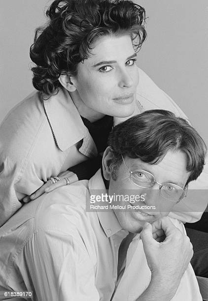 Portrait of French actors Fanny Ardant and Bernard Giraudeau