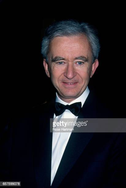 Portrait of French businessman Bernard Arnault as he attends a Library Lions benefit at the New York Public Library New York New York 2001