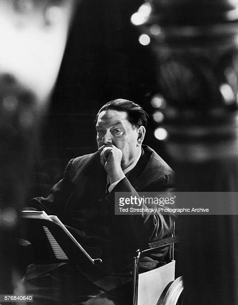 A portrait of French composer Darius Milhaud who is best known for his development of polytonality May 1963 Oakland California USA