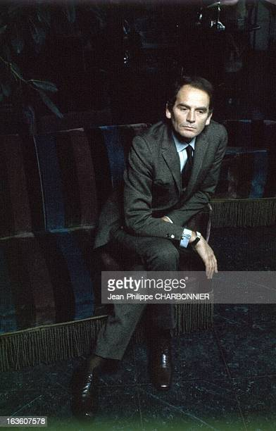Portrait of French fashion designer Pierre Cardin in Paris France in 1965