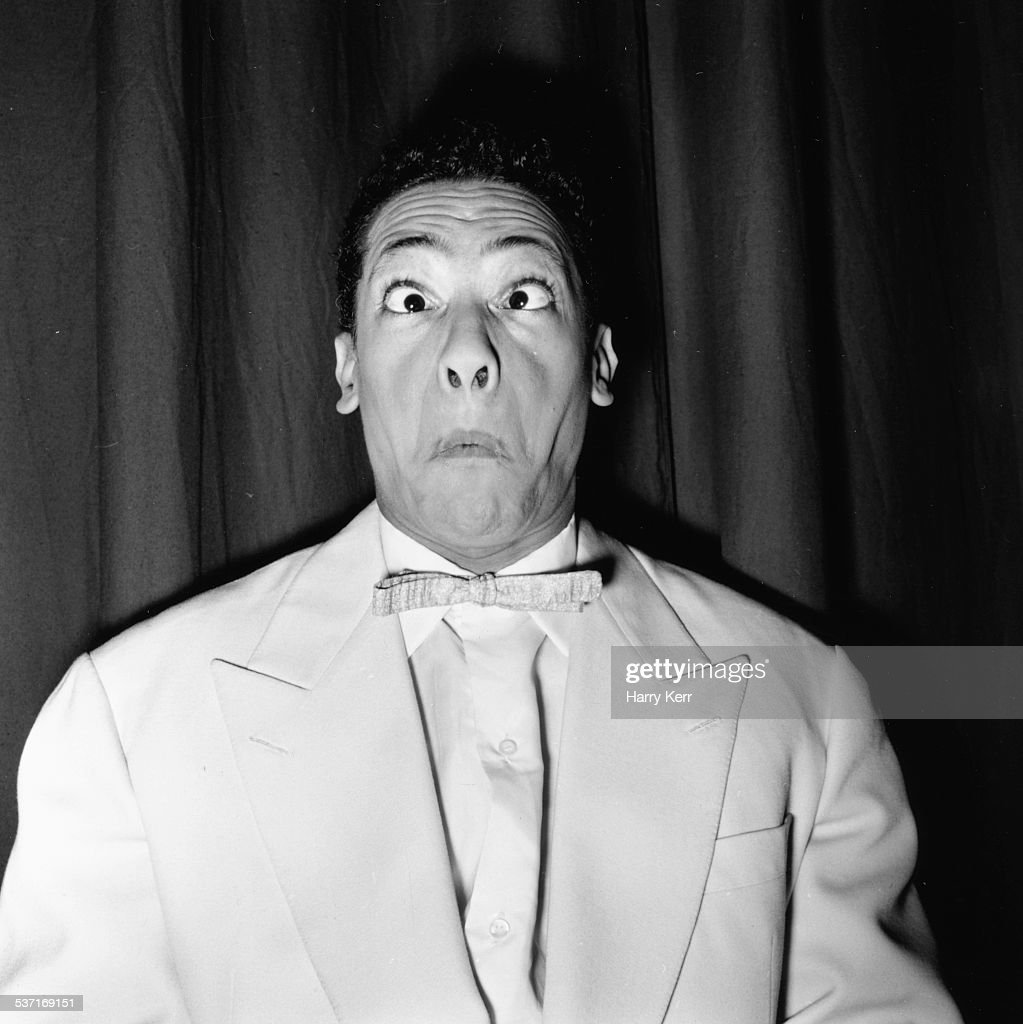 Portrait of French singer and comedian Henri Salvador March 1957