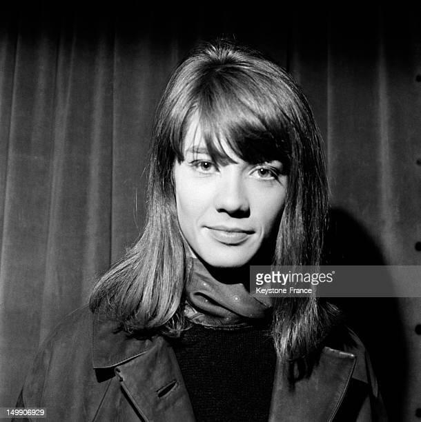 Portrait of French singer Francoise Hardy famous since her first song 'Tous les garcons et les filles' on April 17 1963 in Paris France