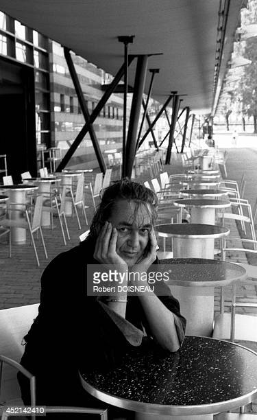Portrait of French singer Jacques Higelin at the Parc de la Villette on August 31 1991 in Paris France