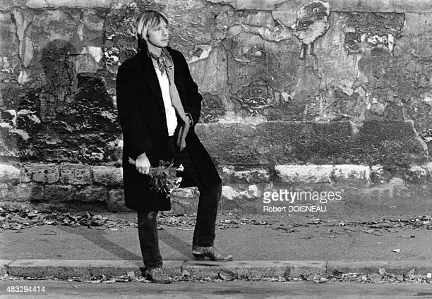 Portrait of French singer Renaud 1980 in France