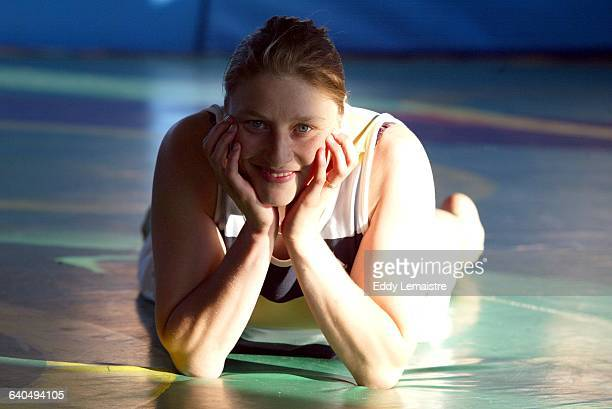 Portrait of French wrestler Lise Legrand