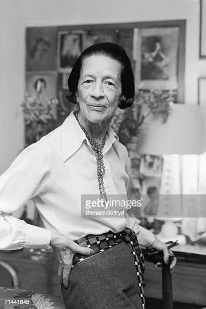 Portrait of Frenchborn American fashion editor Diana Vreeland late 1970s or early 1980s