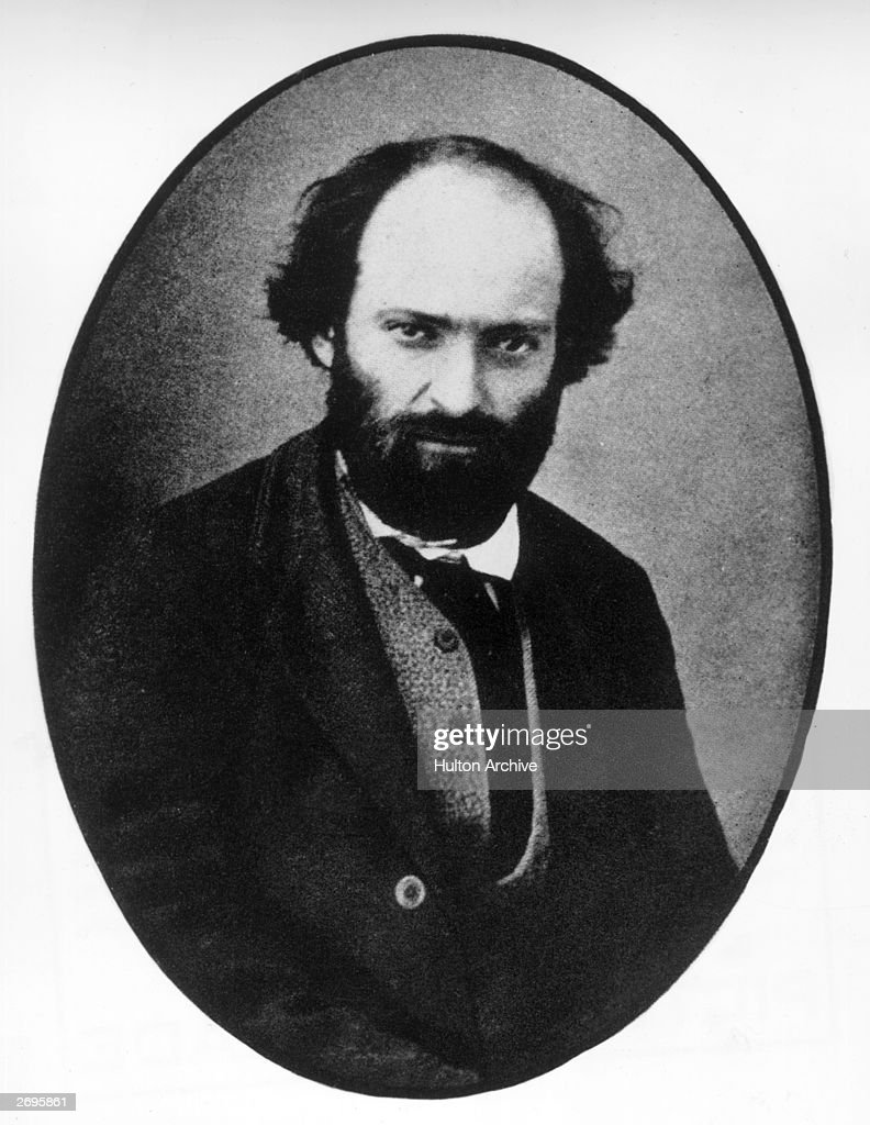Portrait of French-born painter <a gi-track='captionPersonalityLinkClicked' href=/galleries/search?phrase=Paul+Cezanne&family=editorial&specificpeople=99344 ng-click='$event.stopPropagation()'>Paul Cezanne</a> (1839-1906). Regarded as one of the most astute Post-Impressionist painters, Cezanne departed from the Romantic tradition in search for a style between Realism and the classical tradition.