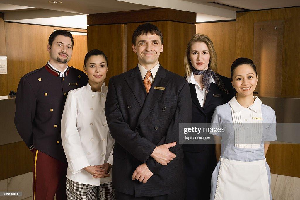 Portrait of friendly hotel staff