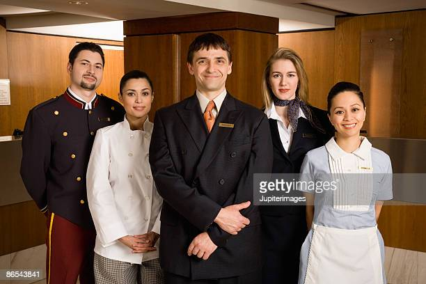 Portrait of friendly hotel staff