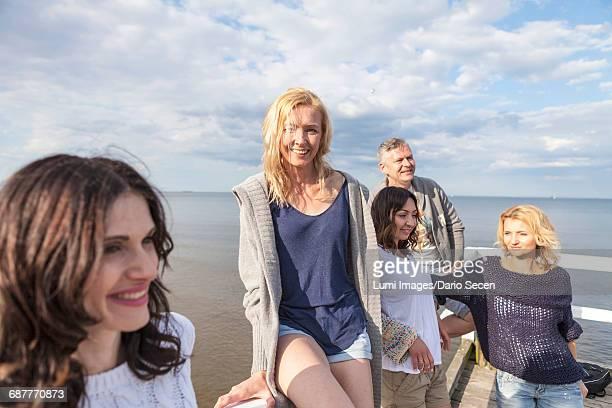 Portrait of friends on beach