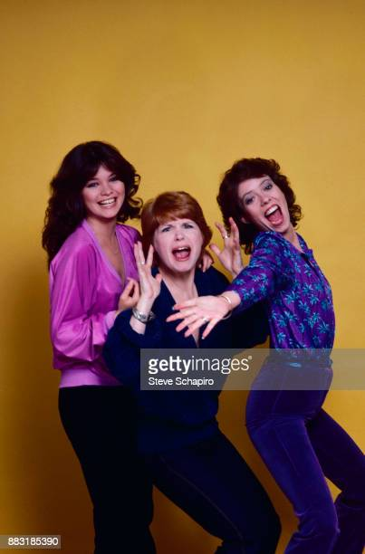 Portrait of from left American actresses Valerie Bertinelli Bonnie Franklin and MacKenzie Phillips from the television series 'One Day at a Time' as...