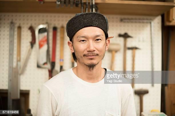 Portrait of furniture craftsman