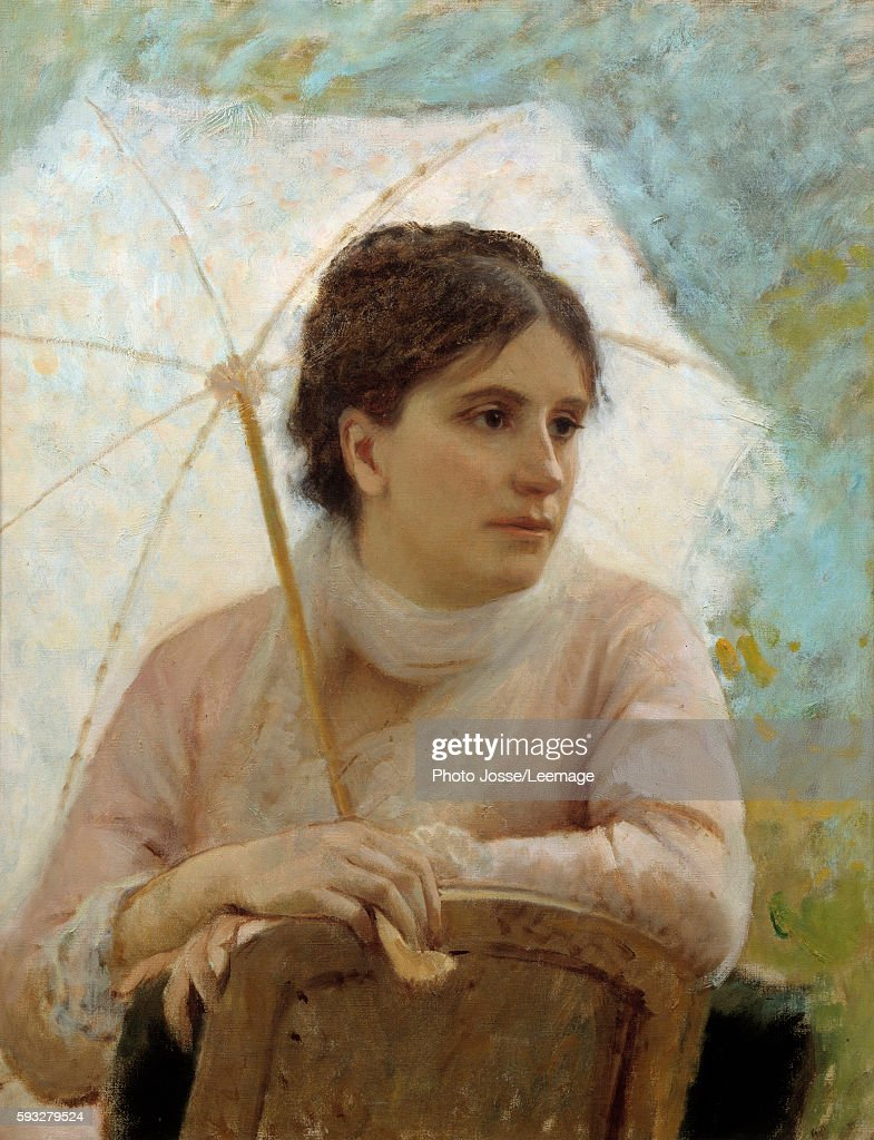 Portrait of Gabriella Coujere the artist's wife Painting by Michele Gordigiani 19th century Modern Art Gallery Florence Italy