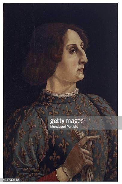 Portrait of Galeazzo Maria Sforza by Antonio del Pollaiolo 15th Century oil on board 65 x 42 cm Italy Tuscany Florence Uffizi Gallery Whole artwork...