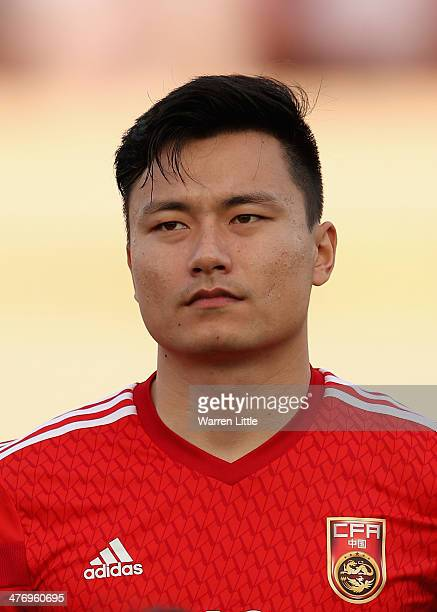 A portrait of Gao Lin of China during the Asian Cup Qualification match between China and Iraq at the AlSharjah Stadium on March 5 2014 in Sharjah...