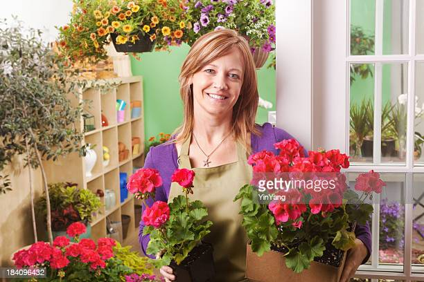 Porträt von Garten-Center Blumengeschäft Shopkeeper Hz